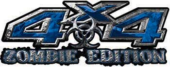 Zombie Edition 4x4 Decals in Blue Camouflage