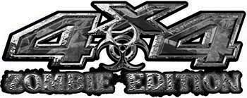 Zombie Edition 4x4 Decals in Gray Camouflage