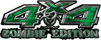 Zombie Edition 4x4 Decals in Green Camouflage
