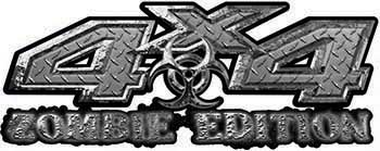 Zombie Edition 4x4 Decals in Diamond Plate