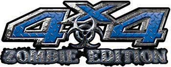Zombie Edition 4x4 Decals in Blue Diamond Plate