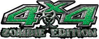 Zombie Edition 4x4 Decals in Green Diamond Plate
