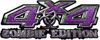 Zombie Edition 4x4 Decals in Purple Diamond Plate