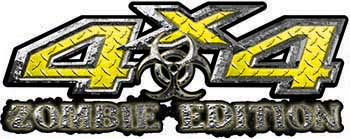 Zombie Edition 4x4 Decals in Yellow Diamond Plate