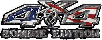 Zombie Edition 4x4 Decals with American Flag