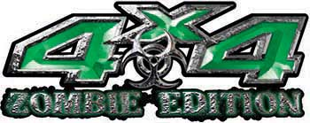 Zombie Edition 4x4 Decals in Green
