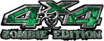 Zombie Edition 4x4 Decals in Green Inferno Flames