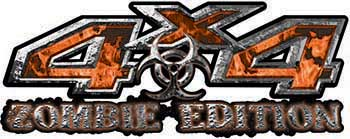 Zombie Edition 4x4 Decals in Orange Inferno Flames