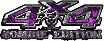 Zombie Edition 4x4 Decals in Purple Inferno Flames