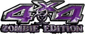 Zombie Edition 4x4 Decals in Purple
