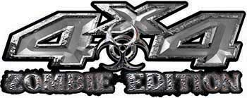 Zombie Edition 4x4 Decals in Silver