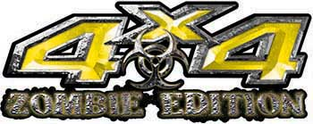 Zombie Edition 4x4 Decals in Yellow