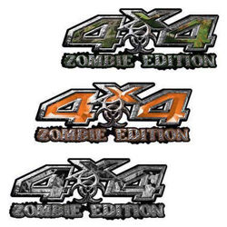 4x4 Zombie Edition Decals for your Truck or Jeep