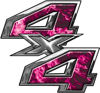4x4 ATV Truck or SUV Bedside or Fender Decals in Pink Inferno Flames