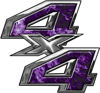 4x4 ATV Truck or SUV Bedside or Fender Decals in Purple Inferno Flames