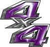 4x4 ATV Truck or SUV Bedside or Fender Decals in Purple