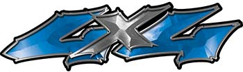 Twisted Series 4x4 Truck Bedside or Fender Emblem Decals in Blue
