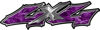 Twisted Series 4x4 Truck Bedside or Fender Emblem Decals in Purple Camouflage