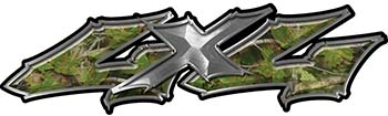 Twisted Series 4x4 Truck Bedside or Fender Emblem Decals in Camouflage