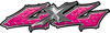 Twisted Series 4x4 Truck Bedside or Fender Emblem Decals in Pink Diamond Plate