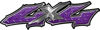 Twisted Series 4x4 Truck Bedside or Fender Emblem Decals in Purple Diamond Plate