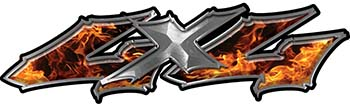 Twisted Series 4x4 Truck Bedside or Fender Emblem Decals in Inferno