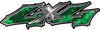 Twisted Series 4x4 Truck Bedside or Fender Emblem Decals in Green Inferno