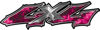 Twisted Series 4x4 Truck Bedside or Fender Emblem Decals in Pink Inferno