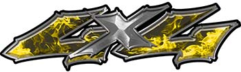 Twisted Series 4x4 Truck Bedside or Fender Emblem Decals in Yellow Inferno