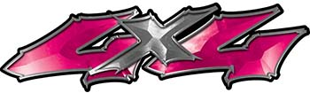 Twisted Series 4x4 Truck Bedside or Fender Emblem Decals in Pink
