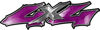 Twisted Series 4x4 Truck Bedside or Fender Emblem Decals in Purple