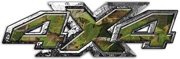 4x4 ATV Truck or SUV Bedside or Fender Decals in Camouflage