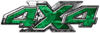 4x4 ATV Truck or SUV Bedside or Fender Decals in Green Camouflage