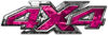 4x4 ATV Truck or SUV Bedside or Fender Decals in Pink Camouflage