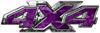 4x4 ATV Truck or SUV Bedside or Fender Decals in Purple Camouflage