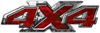 4x4 ATV Truck or SUV Bedside or Fender Decals in Red Camouflage