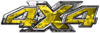 4x4 ATV Truck or SUV Bedside or Fender Decals in Yellow Camouflage