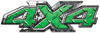 4x4 ATV Truck or SUV Bedside or Fender Decals in Green Diamond Plate