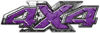 4x4 ATV Truck or SUV Bedside or Fender Decals in Purple Diamond Plate