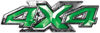 4x4 ATV Truck or SUV Bedside or Fender Decals in Green