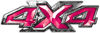 4x4 ATV Truck or SUV Bedside or Fender Decals in Pink