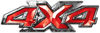 4x4 ATV Truck or SUV Bedside or Fender Decals in Red