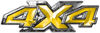 4x4 ATV Truck or SUV Bedside or Fender Decals in Yellow