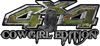 Cowgirl Edition with Boots 4x4 ATV Truck or SUV Vehicle Decal / Sticker Kit in Camouflage