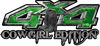 Cowgirl Edition with Boots 4x4 ATV Truck or SUV Vehicle Decal / Sticker Kit in Green Camouflage