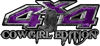 Cowgirl Edition with Boots 4x4 ATV Truck or SUV Vehicle Decal / Sticker Kit in Purple Camouflage