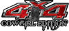 Cowgirl Edition with Boots 4x4 ATV Truck or SUV Vehicle Decal / Sticker Kit in Red Camouflage