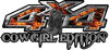 Cowgirl Edition with Boots 4x4 ATV Truck or SUV Vehicle Decal / Sticker Kit in Inferno Flames