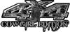 Cowgirl Edition with Boots 4x4 ATV Truck or SUV Vehicle Decal / Sticker Kit in Gray Inferno Flames