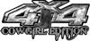 Cowgirl Edition with Boots 4x4 ATV Truck or SUV Vehicle Decal / Sticker Kit in Silver